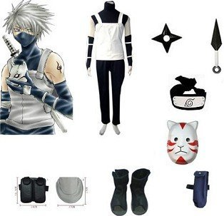 Anime Naruto Cosplay - Naruto cosplay Anbu Bundle Big Promotional Package Cosplay Costume Set Freeshipping