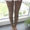 2017 Новый Стильный Сексуальный Женщины Legging Девушки Leopard Stretch Поножи Девятый Брюки H9