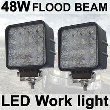 THTMH 2X48 W Cuadrado LLEVÓ la Luz del Trabajo de Inundación Lámpara del Carro del coche del Vehículo Que Conduce el Barco