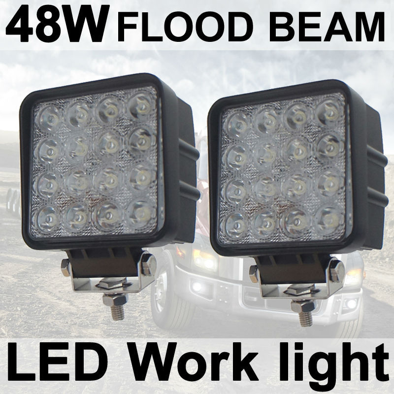 tkeapl thtmh 2x48 w flood vierkante led verlichting lamp auto vrachtwagen voertuig rijden boot