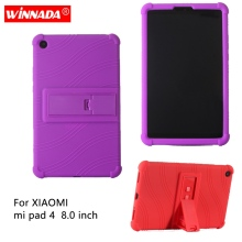 Silicone case for xiaomi mi pad 4 8.0 cover mipad 8 inch protective soft rubber tablet coque para