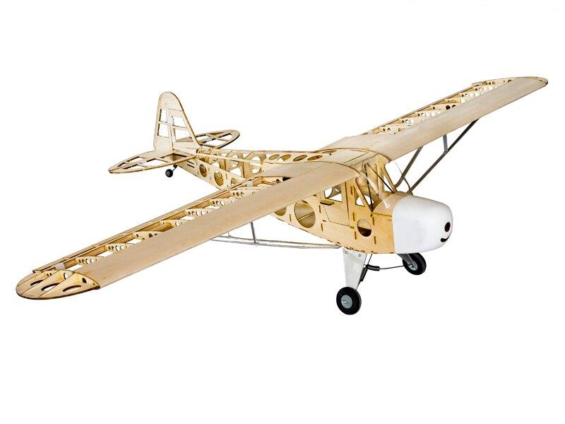 Piper J-3 Cub J3 Legno di Balsa RC Airplane Laser Cut Kit 1800mm (70