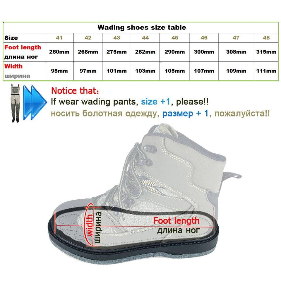 Pêche à la mouche Wading chaussures & pantalons Aqua Sneakers ensemble de vêtements respirant Rock Sports cuissardes feutre semelle bottes chasse No-slip Fish - 5