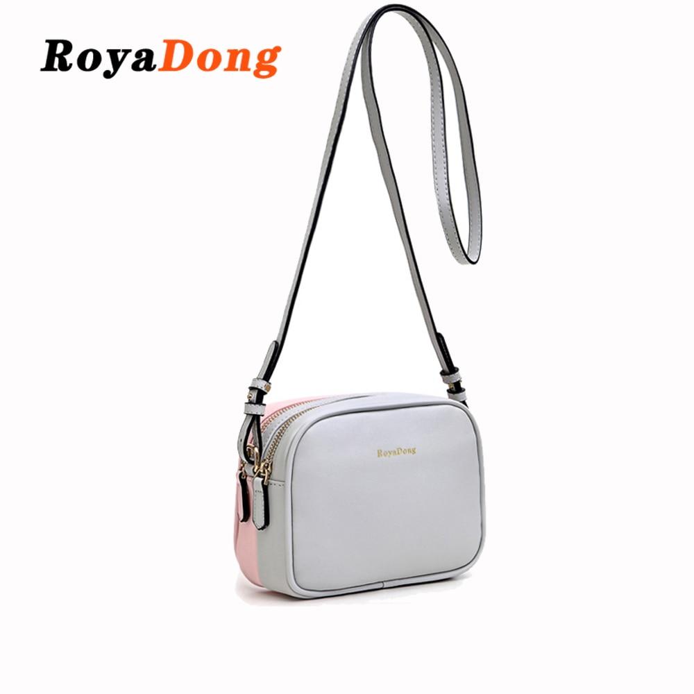 RoyaDong Brand 2019 New Pu Leather Flap Women Messenger Bags Double-Side Color Shoulder Bag Female Crossbody Bags Lady Handbags