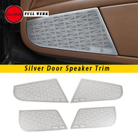 Set of Car Styling Door Speaker Trim Cover Cap Stainless Steel Sticker Protector Decoration for Volkswagen Phaeton Accessory