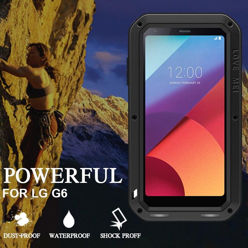 imágenes para Funda impermeable para LG G6 Marca de Lujo De Aluminio Original Para LG de Metal A Prueba de Golpes Caso de la Cubierta de Protección Completa Para LG G6 G6 Casos