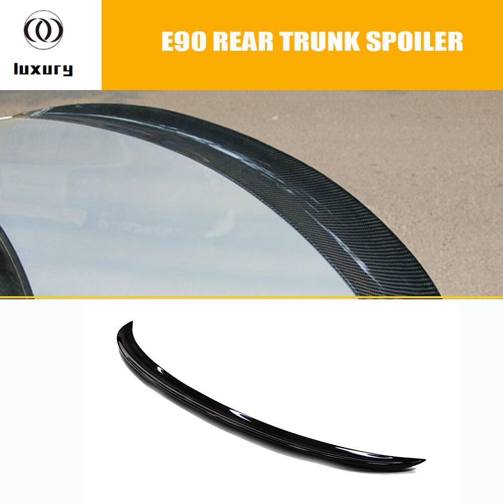 E90 P Style Carbon Fiber Rear Wing Spoiler for BMW E90 316i 318i 320i 325i 330i 335i 316d 318d 320d 325d 330d 335d 2005 - 2011 e90 ac style carbon fiber rear roof spoiler for bmw e90 320i 325i 330i 335i 320d 325d 330d 335d 2005 2011