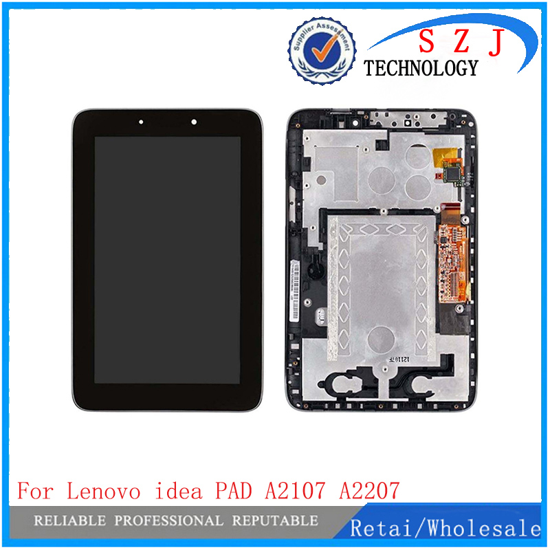 New 7'' inch case For Lenovo Ideapad A2107 A2207 Replacement LCD Display Touch Screen Panel Digitizer Glass with Frame Assembly for asus zenpad c7 0 z170 z170mg z170cg tablet touch screen digitizer glass lcd display assembly parts replacement free shipping