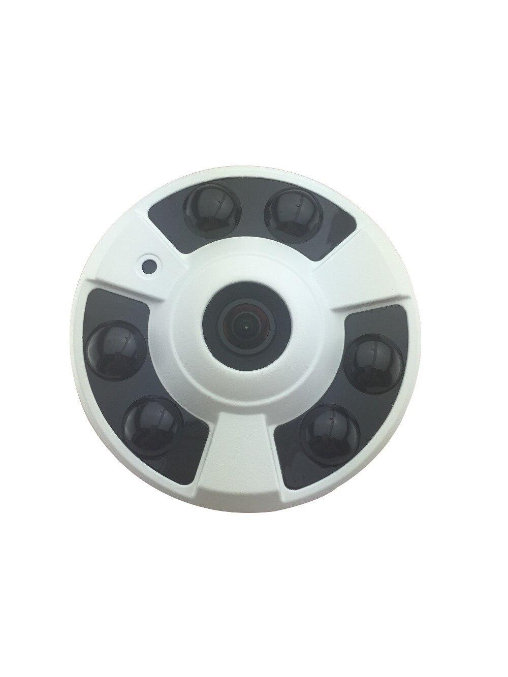 ФОТО 180 fisheye wide angle HD 1080P Network IP Camera 6IR light metal night vision Indoor Ceiling Onvif P2P H.264