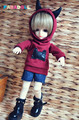 Cute Dark Red Little Devil Hooded Shirt for BJD 1/6 YOSD,1/4 MSD,1/3,SD17,Uncle Doll Clothes CMB30