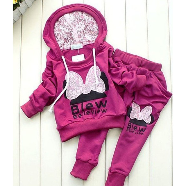 Children's Cute Warm Tracking Suit