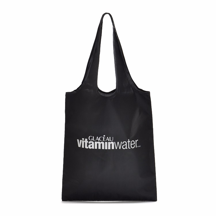 Custom Reusable Bags Nylon Black Grocery Totes Promotional Shopping Bags 10