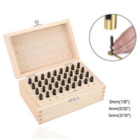 36Pcs Stainless Steel Letter Number Stamps Punch Set Hardened Metal Wood Leather Craft Stamp Tools Kit