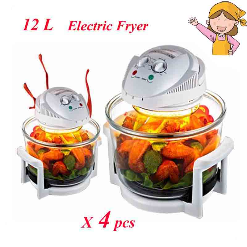 ФОТО 4pcs/lot 1300W Halogen Oven 12L Turbo Oven 220V Conventional Infrared Super Wave Oven Electric Fryer LO-G6