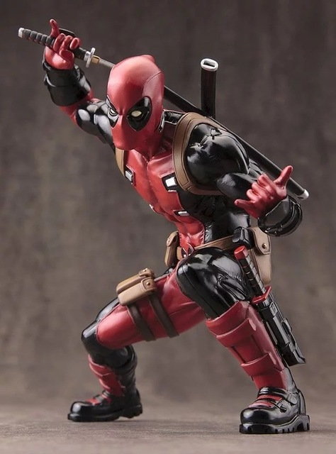 Disney Marvel X Men 20cm Deadpool 2 Action Figure Sitting Posture Model Anime Doll Decoration PVC Collection Figurine Toys mode
