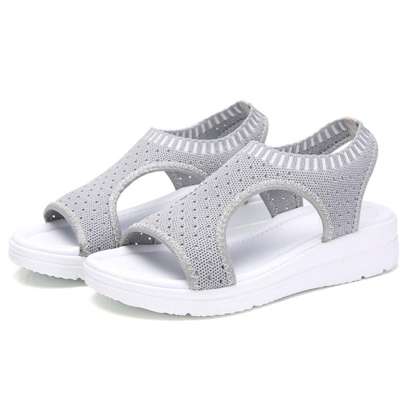 HTB1.yPANbvpK1RjSZFqq6AXUVXaz Wild Elastic Belt Sports Sandals Summer New Women's Shoes Women's Thick Bottom Fish Mouth Mesh Sandals Drop Shipping