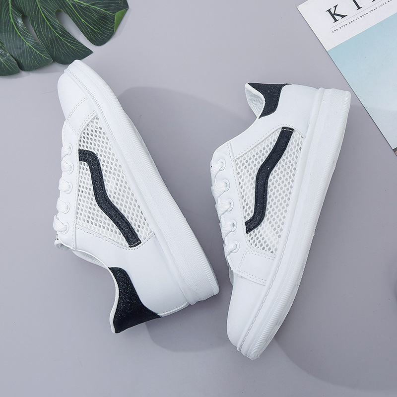 promo code 5326b 26e88 Women breathable net shoes small white tie plate shoes superstar mujer  superstar air force 1 shoes women zapatillas mujer depor-in Skateboarding  from Sports ...