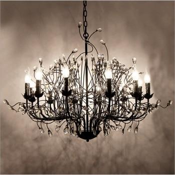 Candelabro de cristal openlight, tienda rural, Sala de estar, restaurante, hierro americano, arte rama