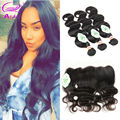 Hot Indian Body Wave Lace Frontal With Bundles Human Hair With Frontal Closure Beauty Hair Pre Plucked Frontal With Bundles
