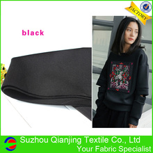 2017 High quality kniteed spandex stretch drapery black neoprene fabric цена