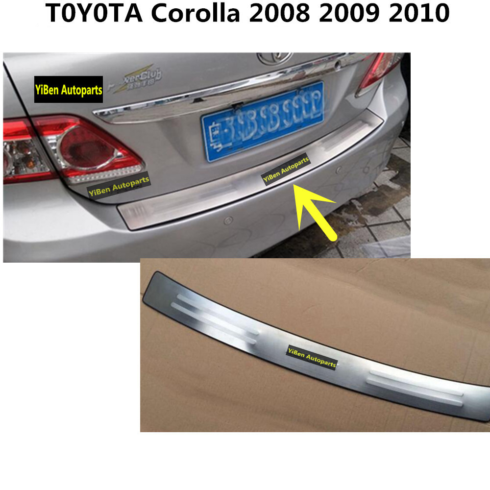 Car cover Stainless Steel outside Rear Bumper Strip trim plate lamp frame threshold pedal 1pcs For Toyota Corolla 2008-2010 high quality stainless steel car window trim strip 16pcs for 2010 livina 5dr