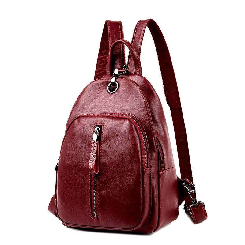 8c08cb50ac Casual Backpack Women Genuine Leather Backpack For Girls School Bags  Mochila High Quality Leather Travel Shoulder Bag Female Tags