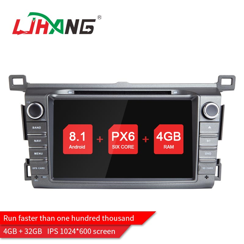 LJHANG 1024*600 2 Din Android 8.1 Car dvd Player For Toyota/RAV4 2013 Car multimedia Stereo Auto audio 4GB RAM WIFI Mirror-Link klyde 8 2 din android 8 1 8 core car radio for toyota rav4 2013 2015 1024 600 car audio player