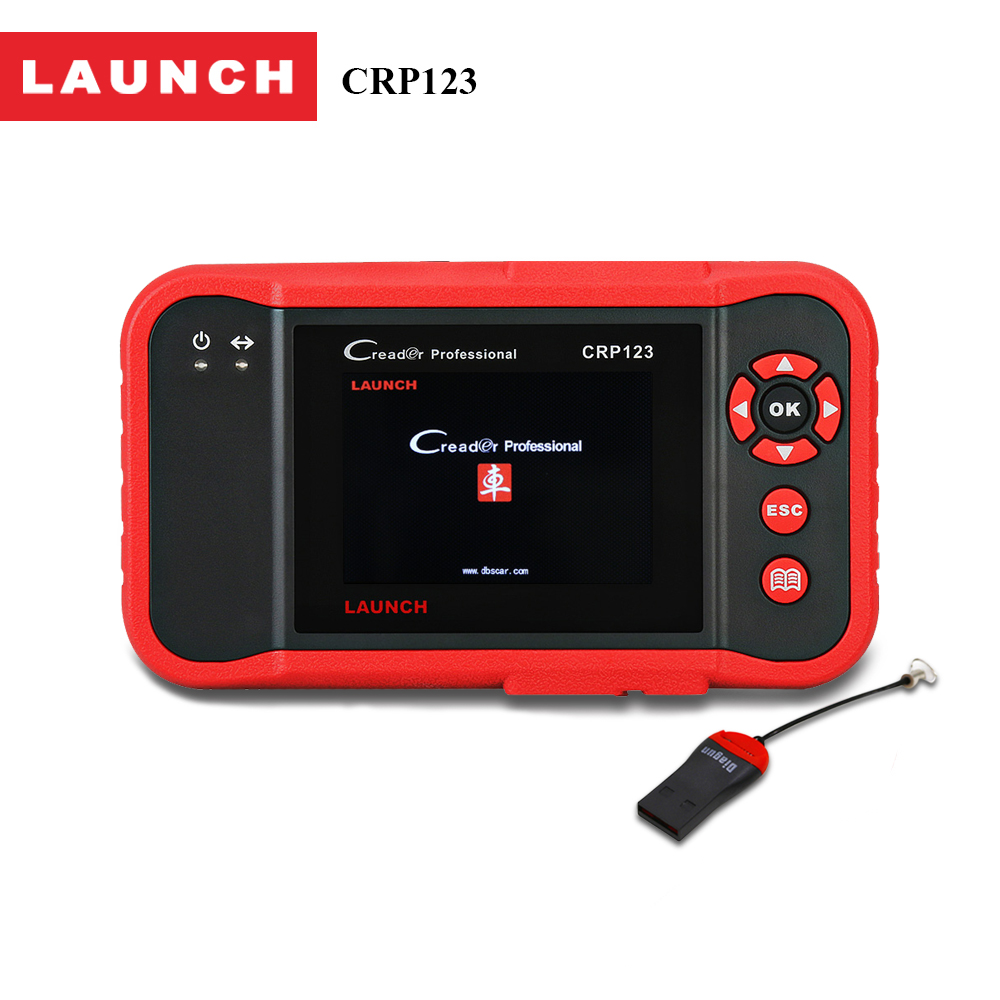 LAUNCH code reader Creader CRP123 Full obd2 auto diagnostic tool in Russian French Spain obd 2