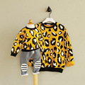 Kids Leopard Sweatshirts Family Matching Clothes Mother And Daughter Outfits Girl Fashion Autumn Tops Teen Shirts Winter Coat
