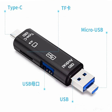2018 All In 1 USB 3.1 OTG Card Reader SD TF Micro SD Card Reader Type C USB C Micro USB Memory Support Mac10 Win7/8/xp/vista