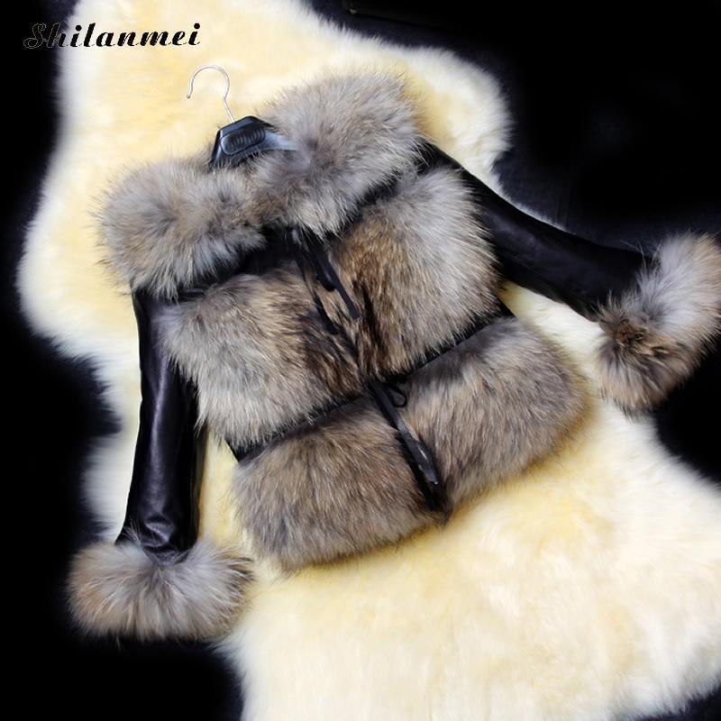 Blue Brown Femmes Veste Wine Manteau Chaud dark 2017 black Outwear Cuir Manteaux Vêtements En coyote Color Nouvelle Parkas D'hiver Fausse Fourrure Longue Red BwqwHfE