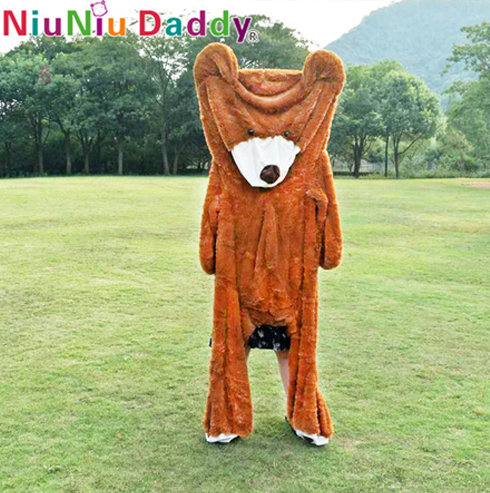 Niuniu Daddy 80cm ke 260cm Giant Teddy Bear Skin American Bear Plush - Mainan lembut - Foto 2