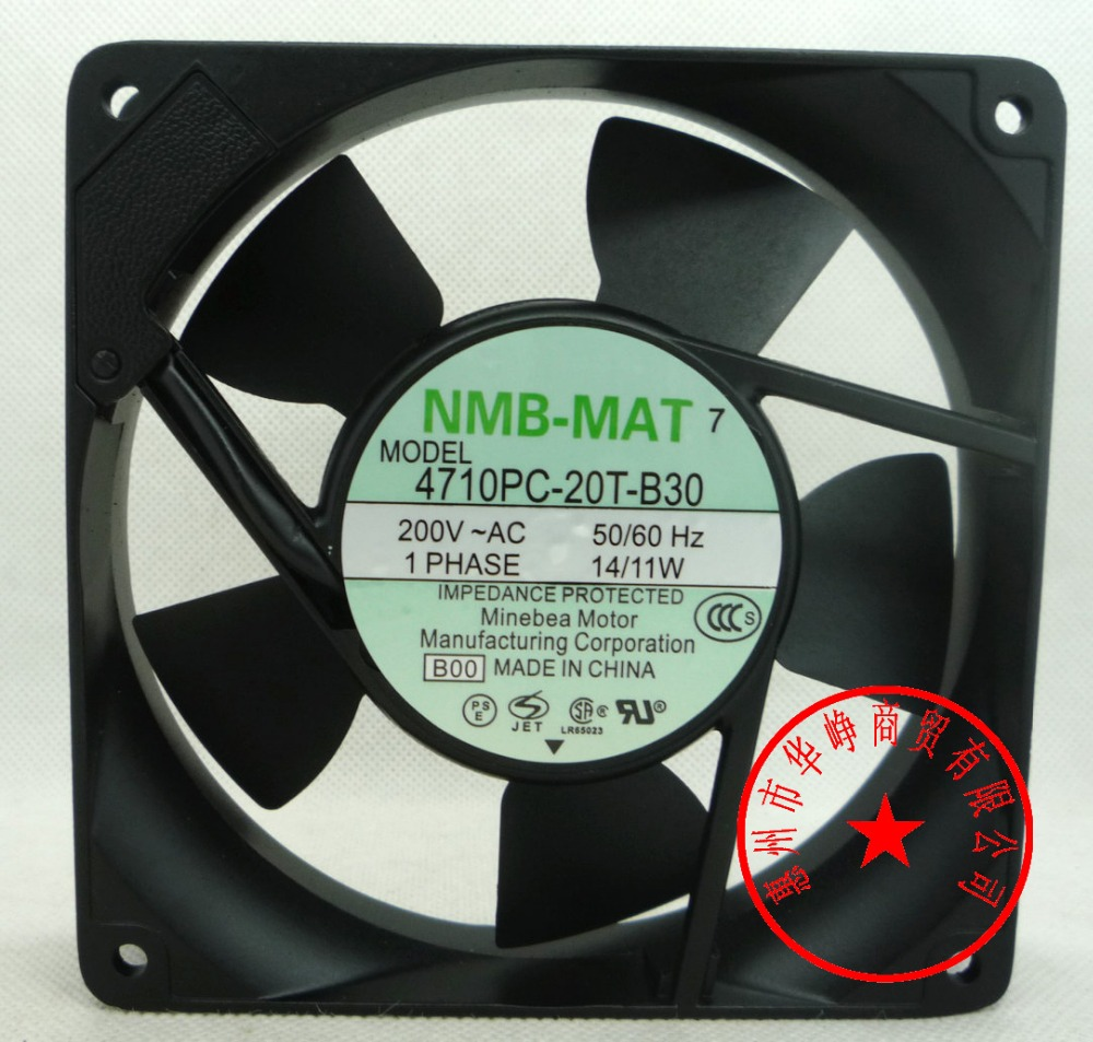 4710PC-20T-B30 200V 14/11W NMB 4710PS-22T-B20 120*120*25MM 9/8W 220V 12cm cabinet cooling fan free shipping nmb cooling fan 3610ps 22t b30 220v instrumentation axial 92 92 25mm page 3