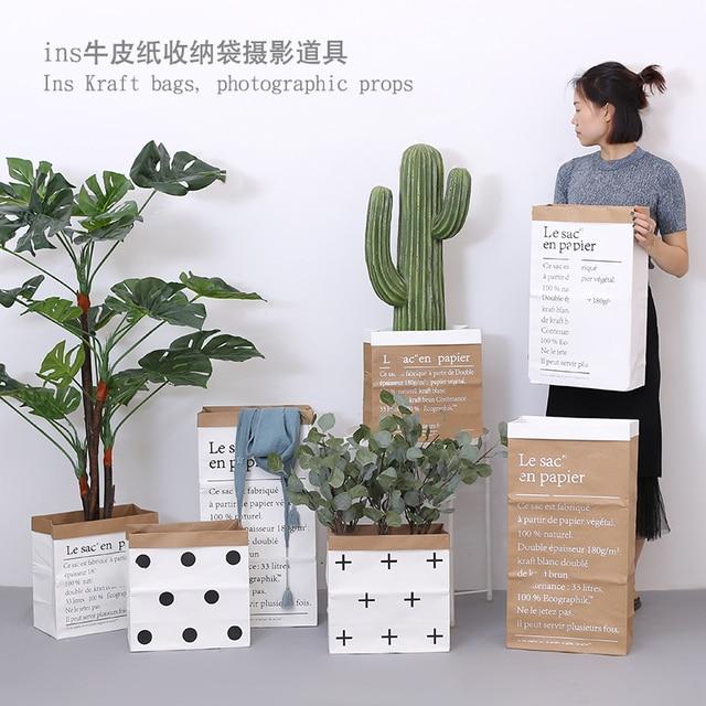 Europe Style Multi Painting Kraft Paper Floor Plant Bonsai Flower Wedding Decorative Paper Vase Home Storage Decor Accessories 2