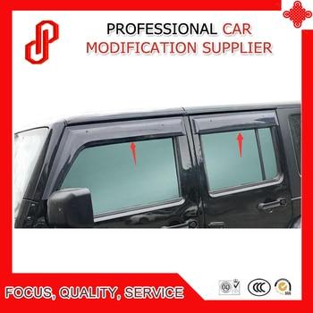 High Quality Injection molding trim vent shade rain sun wind deflector window visor for Wrangler 2008 09 10 11- 2018