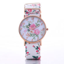 Fashion Luxury Rose Gold Quartz Watch Exquisite Flower Leather Strap Watch Women Dress Watches Lady Hour Clock relogio feminino
