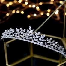 ASNORA luksusowe kryształy ślubne Tiara nupcial biżuteria do włosów ślubna akcesoria do włosów dla panny młodej tiara de boda