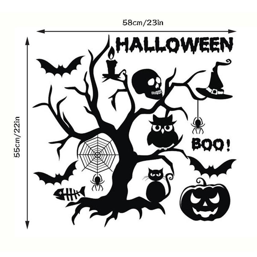 Galleria fotografica <font><b>Happy</b></font> Halloween Stencil Wall designs Wall Sticker Window <font><b>Home</b></font> Decoration Decal Decor Dropshipping drop shipping
