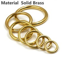 2 pcs of Quality Solid Brass Seamless O-Rings for Webbing Strapping Dog Collar leather belt diy craft trimits accessories(China)