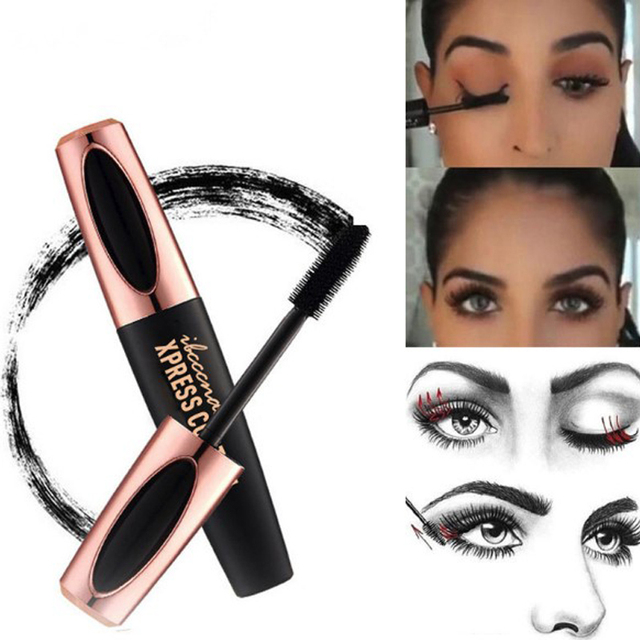 4D Fiber Rimel Eyes Mascara Eyelush Long Lasting Black Waterproof Lengthening Mascara 3D Silk Fiber Eyelush Make Up Rimel 4