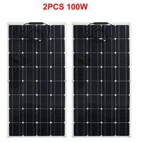 200w 400w Flexible Solar Panel 100W Monocrystalline Waterproof Flexible Panel Solar 1000W For Motorhome/Camping/Boat/Car