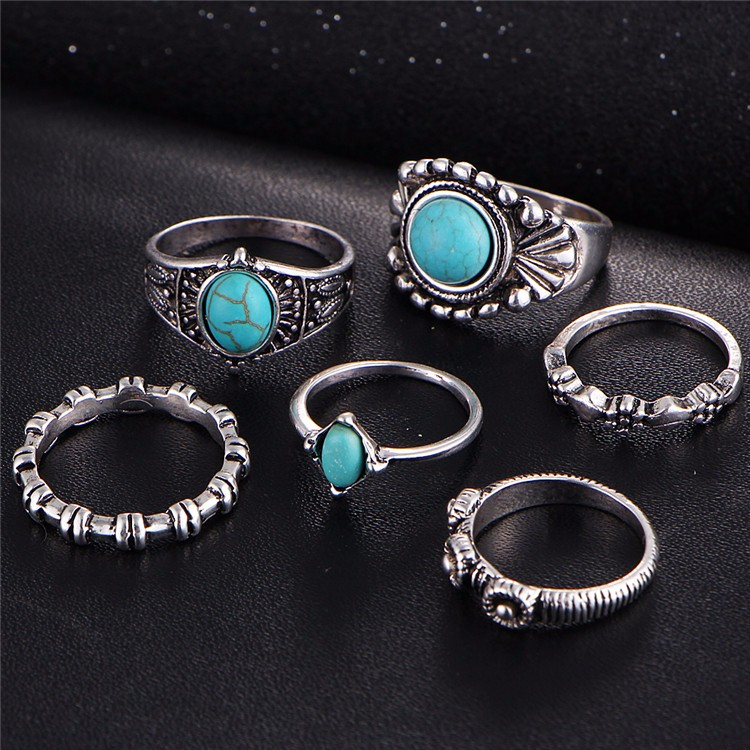 HTB1.yRgOVXXXXbaXpXXq6xXFXXX2 6-Pieces Boho Ethnic Vintage Turquoise/Opal Knuckle Ring Set For Women - 2 Styles