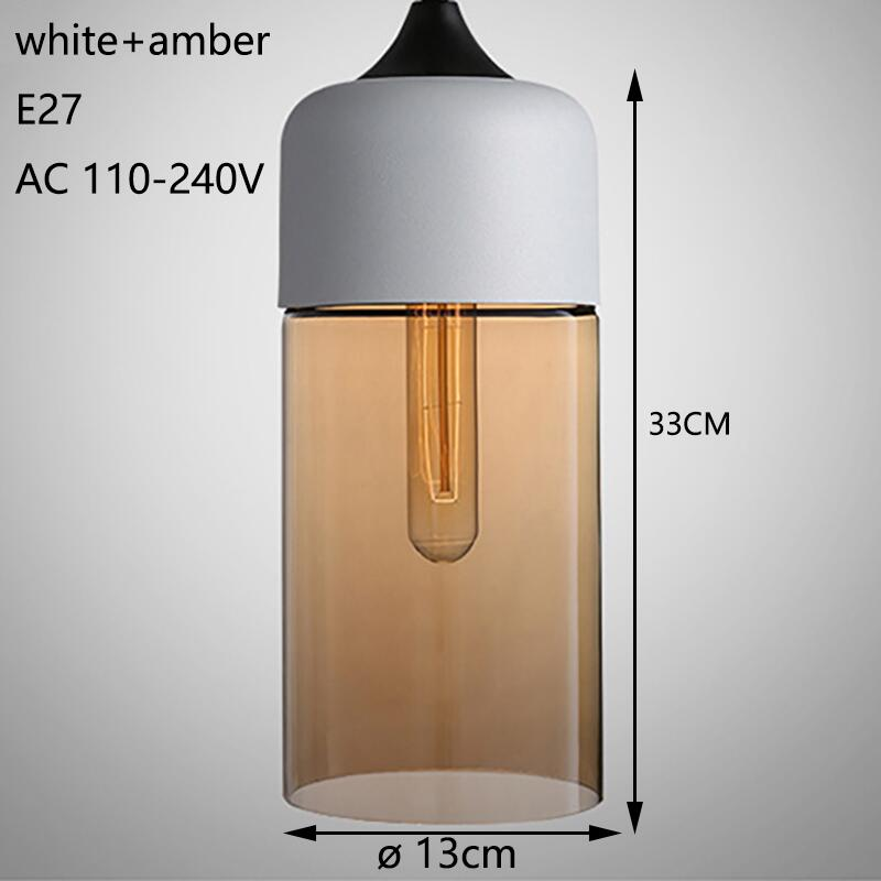 white and amber