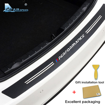 Airspeed Carbon Fiber Car Rear Trunk Stickers M Performance for BMW E46 E90 E36 E53 F20 F30 F10 E60 X5 X1 X6 M3 M5 Accessories