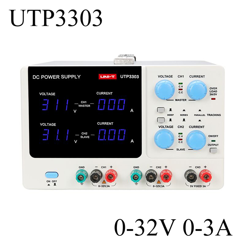 UTP3303 Dual-Channel Three-Way Adjustable Switch DC Power Supply 32V 3A Constant Voltage Constant Current Function 10piece 100% new tps2561drcr tps2561 2561 dual channel precision adjustable current limited power switches qfn chipset