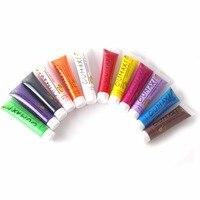 Cheap 12 Colors Nail UV Gel Polish Design 3D Paint Tube Nail Art Pen Color Tube