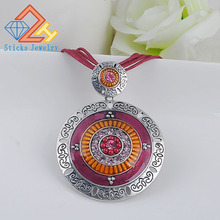 European and American fashion round collar retro enamel necklace statement necklaces pendants free shipping