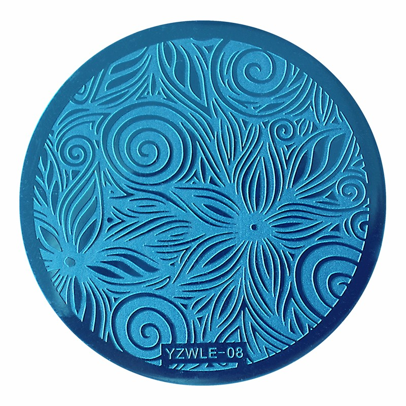 B25//11 Ovale blanc tube royal à rayures bleues lampwork perles en verre-pack de 10