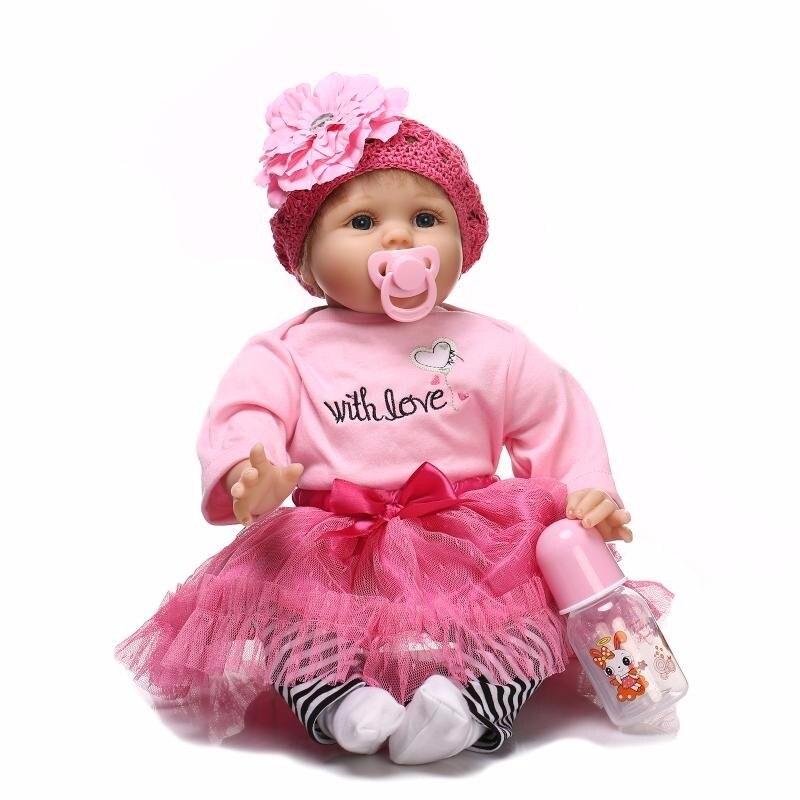 Fashion BeBe Reborn Babies Doll 22inch Soft Vinyl Silicone Reborn Doll Toys Newborn Baby Doll Lifelike Realistic For Kids Toys резистор jantzen superes 5w 2 ohm