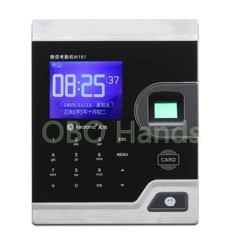 Biometric Fingerprint Time Clock Recorder Machine Electronic Employee Office Attendance System